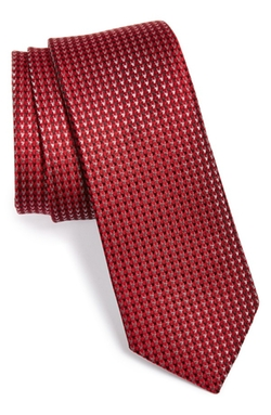 The Tie Bar  - Houndstooth Silk Tie