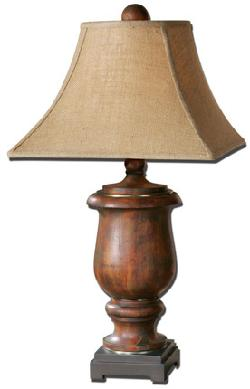 Uttermost  - Kezia Table Lamp in Cinnamon & Light Verdigris Finish