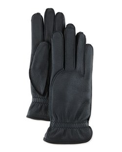 Loro Piana  - Leather Gloves With Cashmere Lining