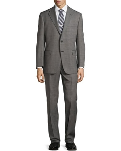 Hickey Freeman - Worsted Wool Suit, Charcoal