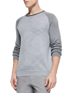 Vince - Colorblock Raglan Crew Sweater