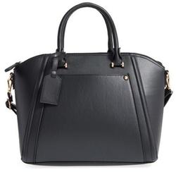 BP - Textured Faux Leather Satchel Bag