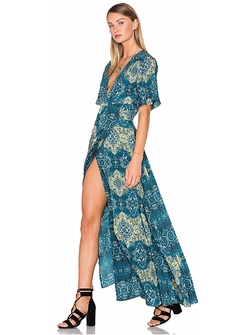 House Of Harlow - Blaire Wrap Maxi Dress