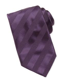 Brioni  - Textured-Stripe Silk Tie