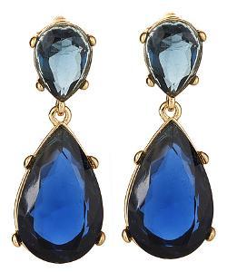 Kenneth Jay Lane - Austrian Crystal Teardrop Earrings