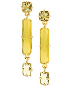 Vince Camuto - Gold-Tone Linear Three Part Drop Earrings