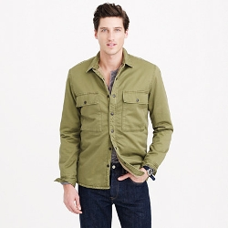 J. Crew - Sherpa-Lined Military Jacket