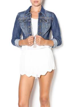 Dollhouse - Cropped Studded Denim Jacket