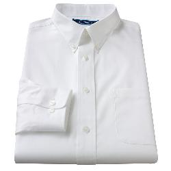 Croft & Barrow - Classic Fit Solid Button-Down Collar Easy-Care Dress Shirt