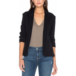 James Perse - Cropped French Terry Blazer