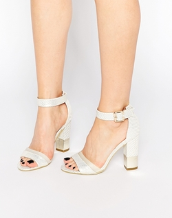 Paper Dolls - Ankle Strap Block Heeled Sandals
