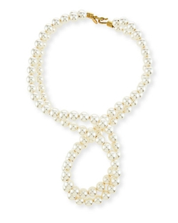 Stella McCartney - warovski Crystal-Pearl Two-Strand Necklace