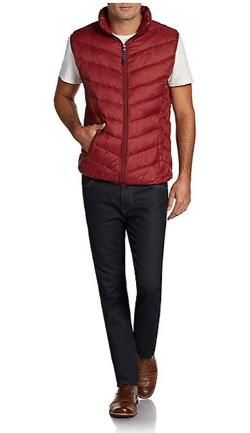 Saks Fifth Avenue Blue  - Quilted Chevron Puffer Vest