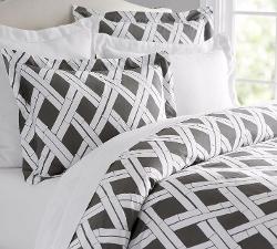Cera Trellis - Print Duvet Cover & Sham Comforter