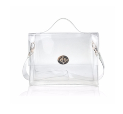 Hoxis  - Clear Turn Lock Satchel Bag