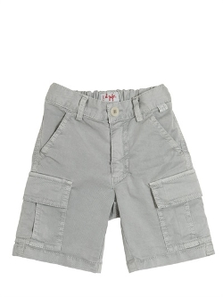 Il Gufo  - Light Cotton Gabardine Cargo Shorts