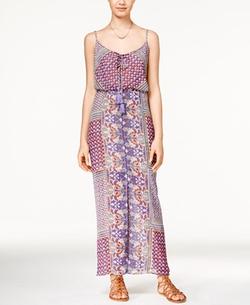 American Rag - Printed Tassel-Trim Maxi Dress