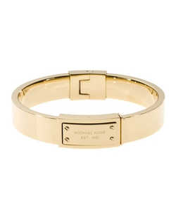 Michael Kors - Logo-Plaque Hinge Bangle