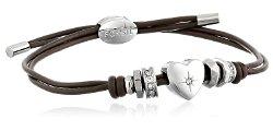 Fossil  - Rondel Heart Wrist Wrap Bracelet