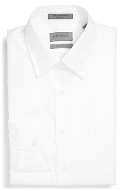 John W. Nordstrom - Solid Piqué Dress Shirt