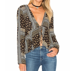 BCBGeneration - Deep V Blouse