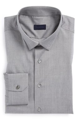 Lanvin - Fitted Grey Dress Shirt