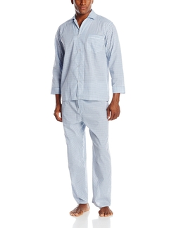 Geoffrey Beene - Checked Broadcloth Pajama Set