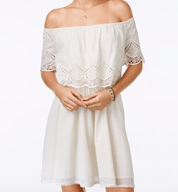 American Rag  - Embroidered Off-The-Shoulder Dress