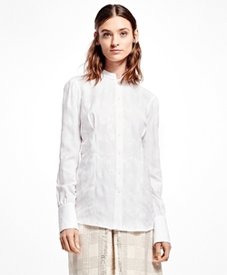 Brooks Brothers - Cotton Jacquard Victorian Blouse