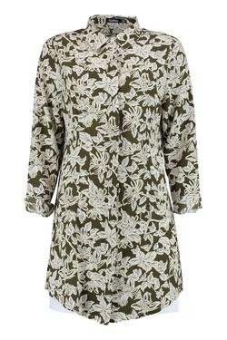 Boohoo - Arianna Floral Shirt Dress
