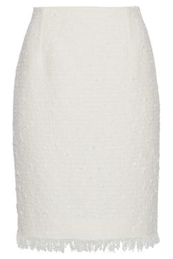 Oscar de la Renta - Cotton-Blend Tweed Pencil Skirt