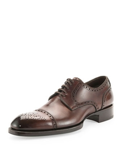 Tom Ford - Edward Med-Cap Wing-Tip Brogue Shoes