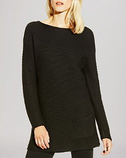 Vince Camuto  - Boat Neck Ribbed Sweater