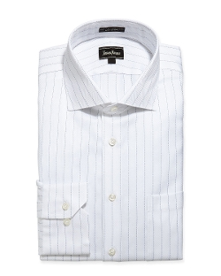 Neiman Marcus  - Classic-Fit Stripe Dress Shirt