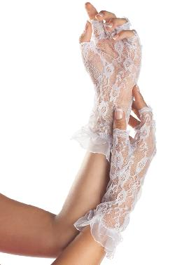 Pure Costumes - Fingerless Mid Length Lace Gloves