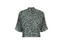 Topshop - Cheetah Print Short Sleeve Shirt