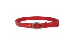 Gucci  - Tiger Head Crystal & Leather Belt