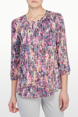Spring Confetti - Print 3/4 Sleeve Blouse