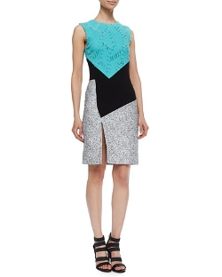 Prabal Gurung - Asymmetric Colorblock Sheath Dress