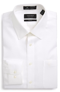Nordstrom - Smartcare Trim Fit Check Dress Shirt