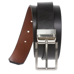Beltiscool - Cowhide Rectangular Solid Leather Belt