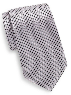 Saks Fifth Avenue  - Boxed Neat Stripe Silk Tie