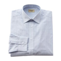 Haggar - Checked Poplin Dress Shirt