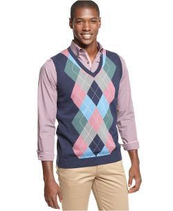 Argyle Culture  - Navy Argyle Sweater Vest