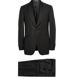 Canali   - Slim-Fit Satin Trimmed Wool Tuxedo Suit