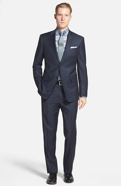 John W. Nordstrom - Classic Fit Stripe Wool Suit