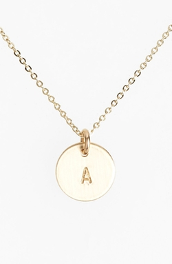 Nashelle - Fill Initial Mini Circle Necklace