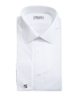 Charvet	  - Solid Poplin French-Cuff Shirt