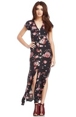 Calypso  - Floral Maxi Dress
