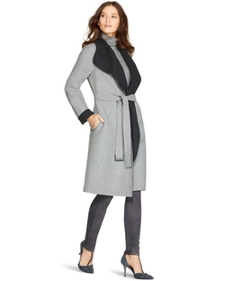 White House Black Market - Reversible Wrap Coat